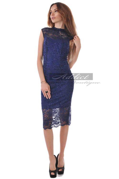 синя дантелена рокля адикт алесса