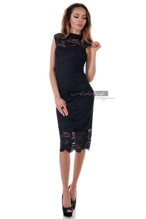 дантелена рокля под коляното адикт