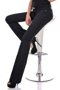 дамски черен панталон чарлстон