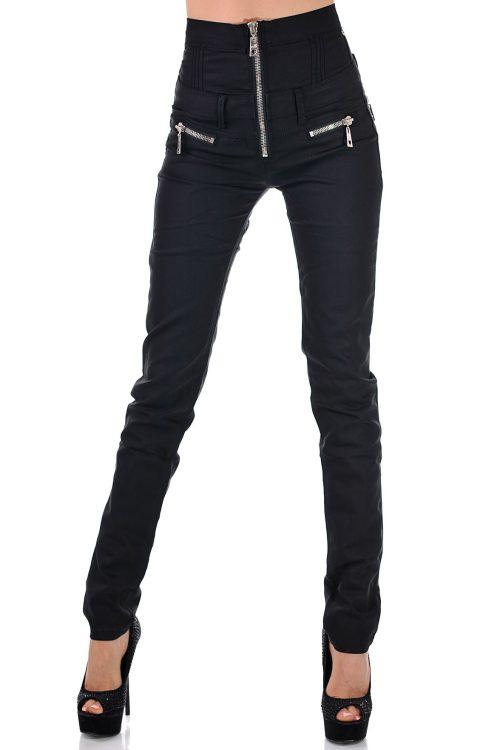 панталон с висока талия черен