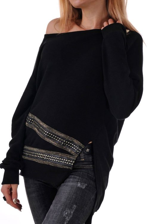 дамска черна блуза