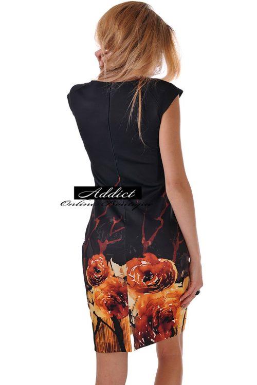 рокля черна без ръкав