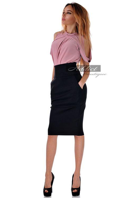 двуцветна рокля