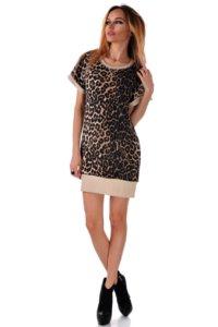 леопардова рокля до коляното