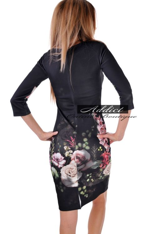 черна рокля с ръкав бг