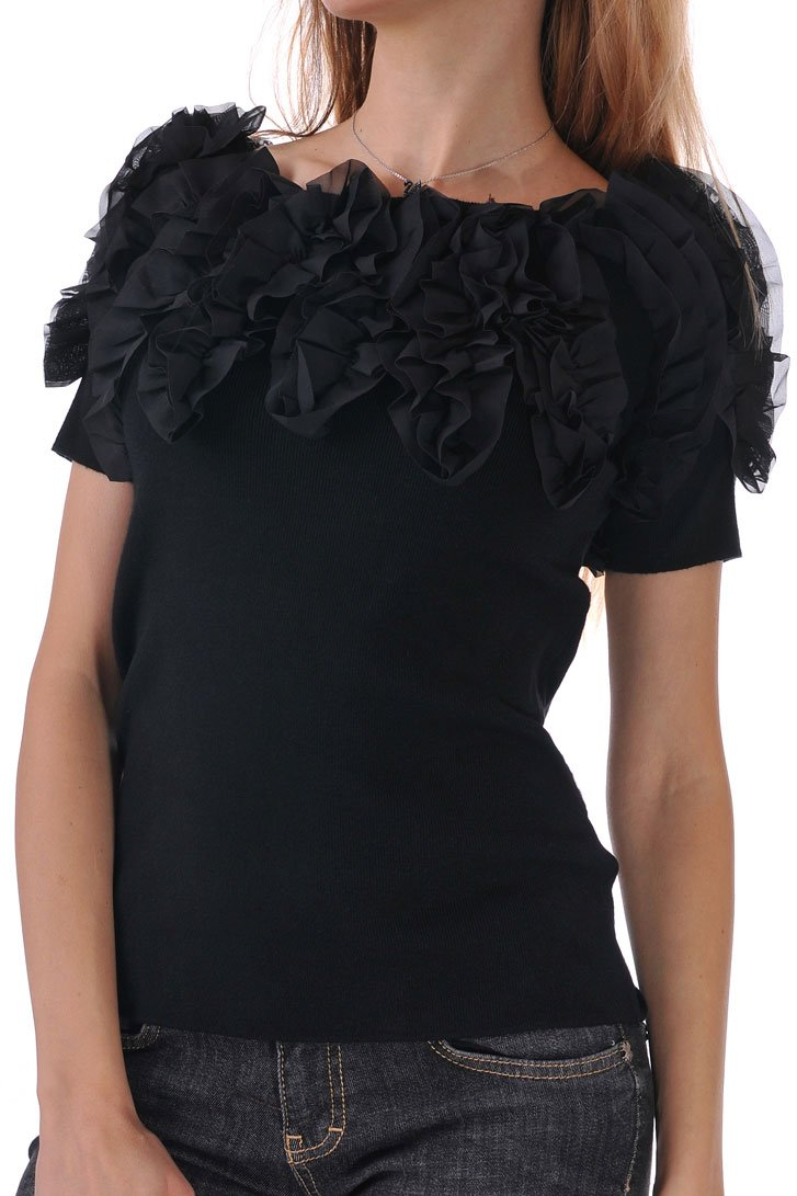 черна блуза