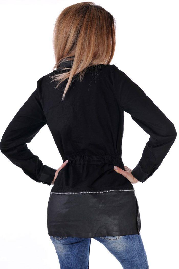яке черно от памук дамско