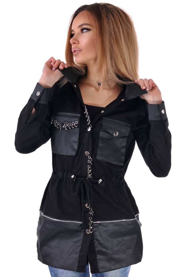 яке черно от памук