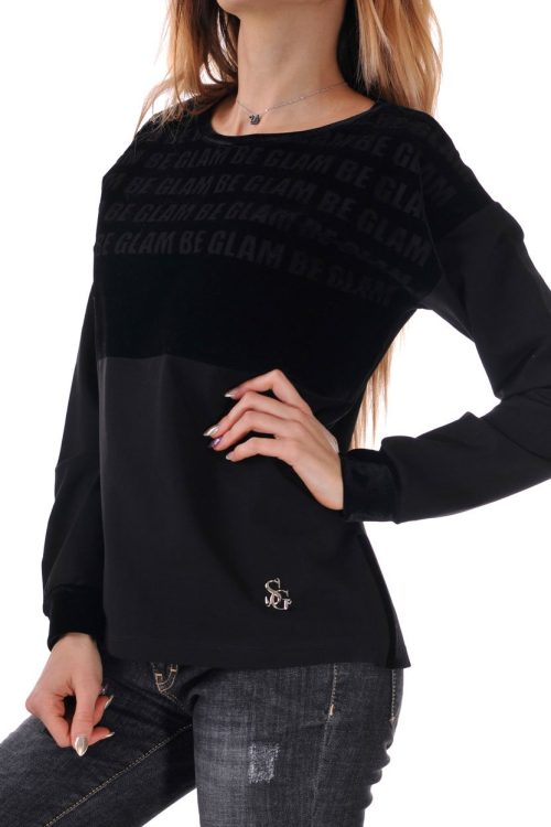 блуза черна дамска кадифе