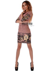 рокля къса с 3/4 ръкав