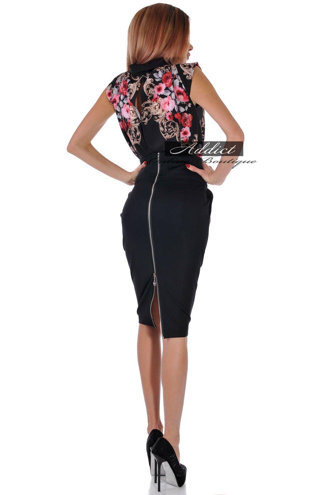 рокля елегантна с черна долница българско пройзводство