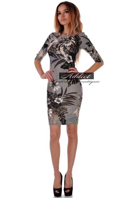 рокля къса със златни цветя адикт