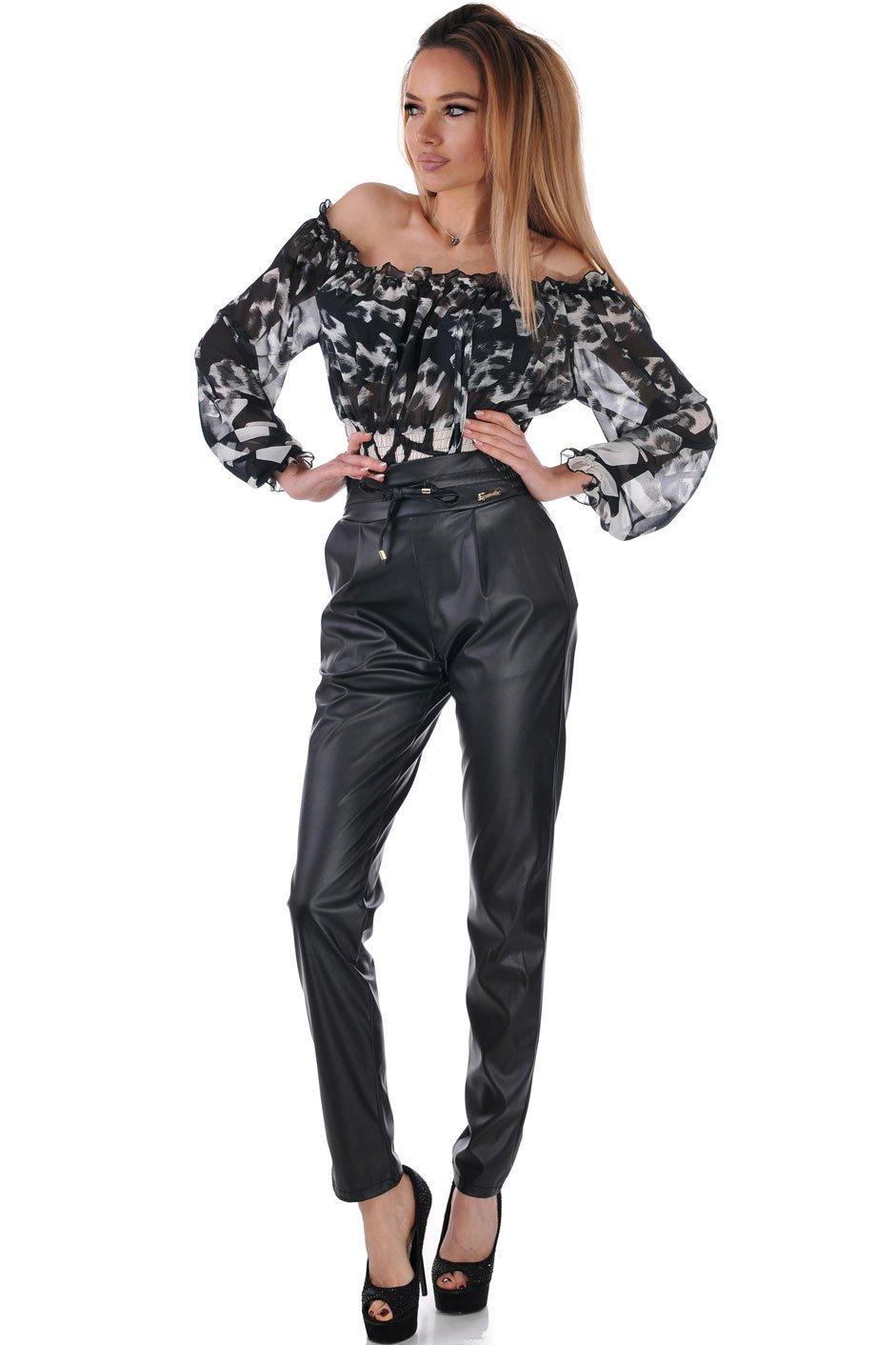 7bdcf220e1a Кожен панталон с висока талия 5 | Бутик ADDICT