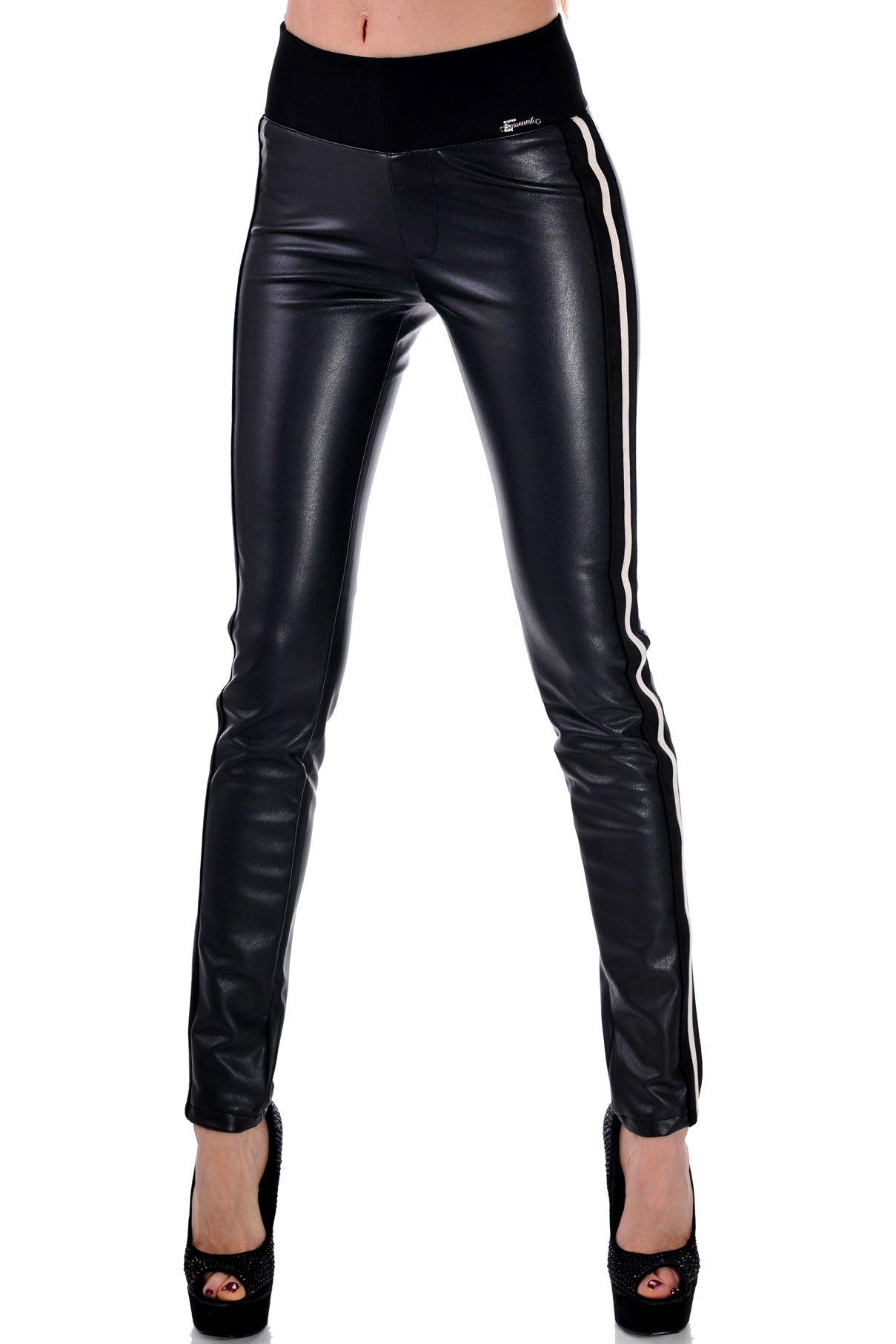 черен панталон с кант дамски