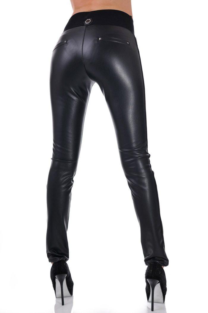 панталон черен с бял кант