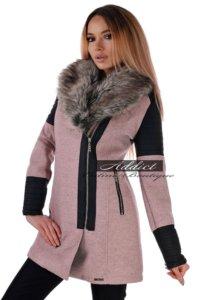 палто дамско розово бг.