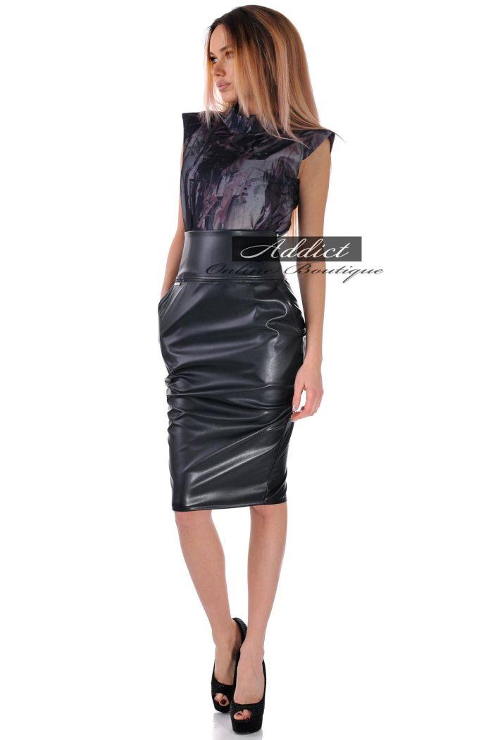 рокля лилаво черна бг.