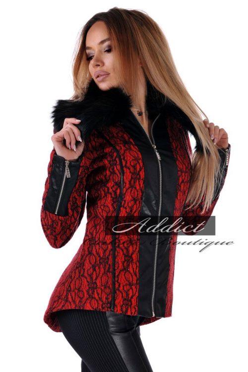 дамско палто червено