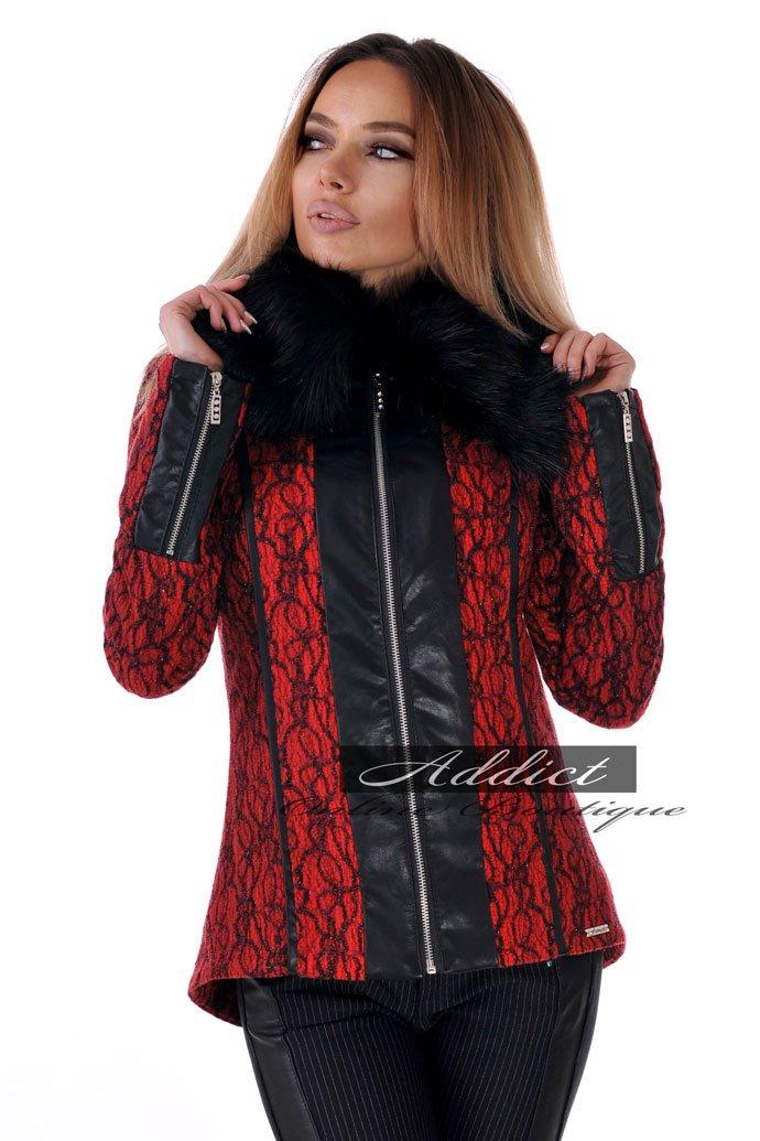 палто дамско червено кашмир бг