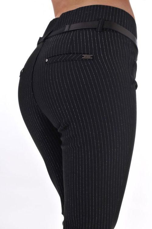 панталон висока талия черен дамски
