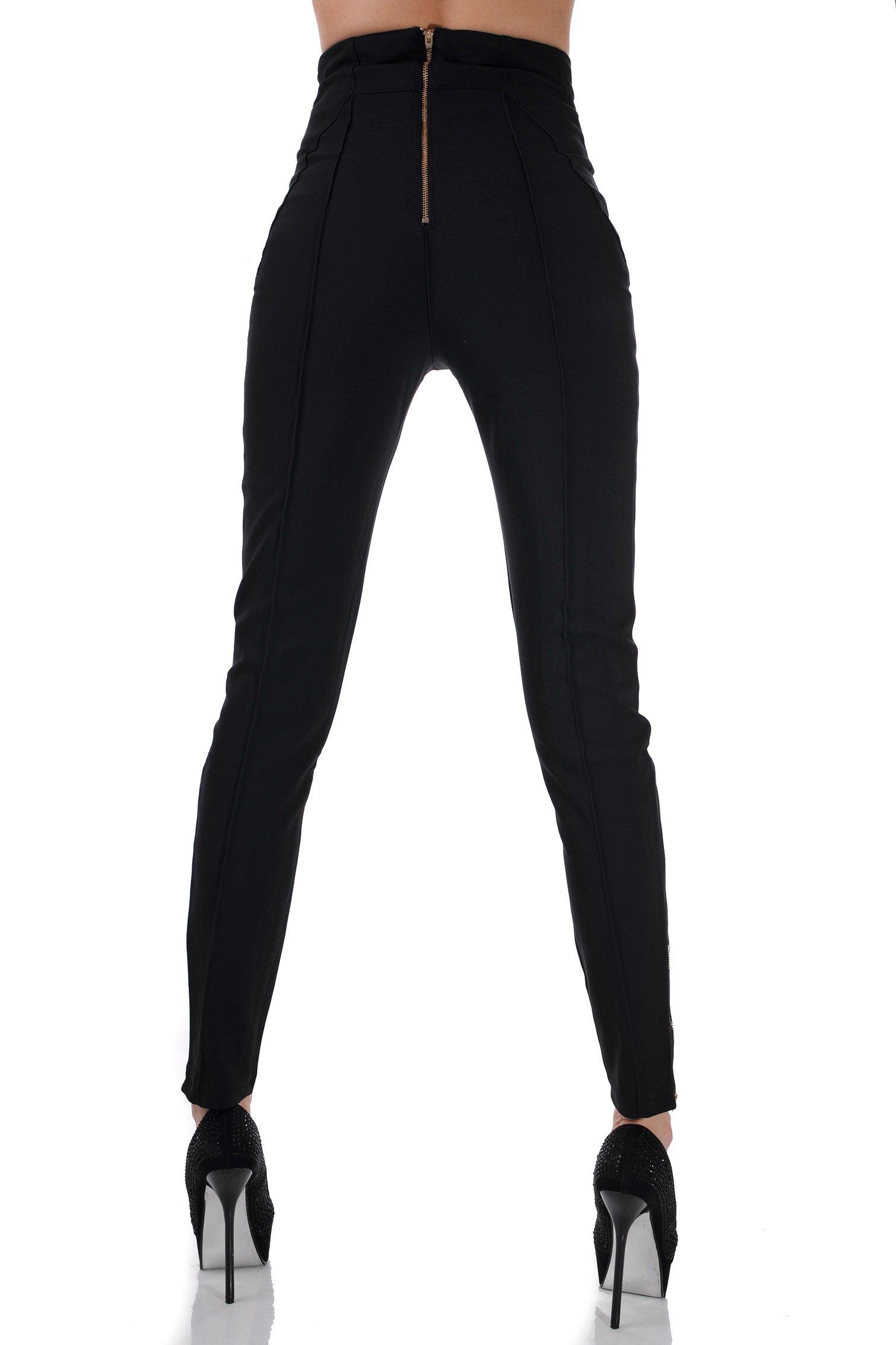 30b02592562 Панталон с висока талия черен 4   Бутик ADDICT