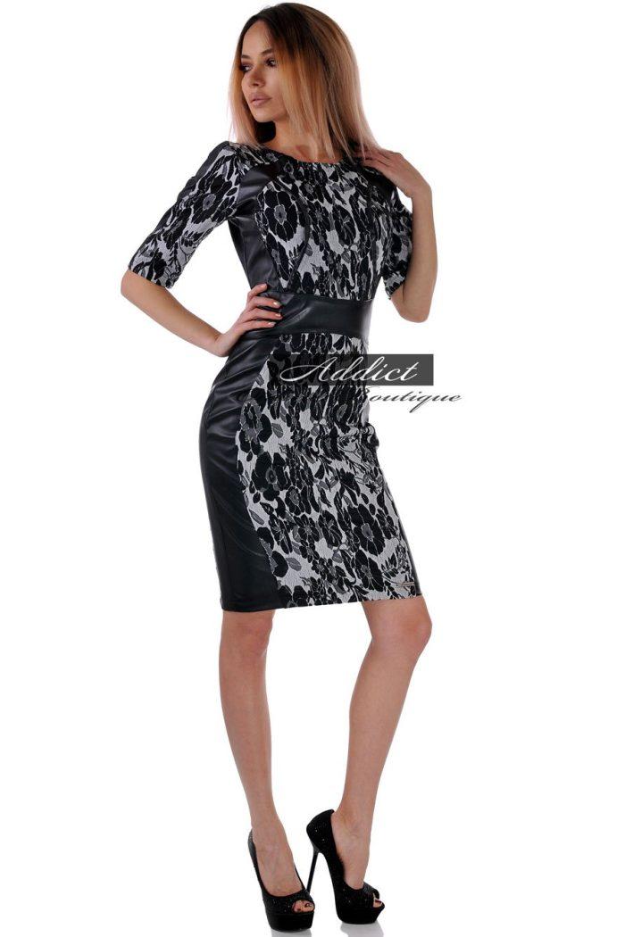рокля от жакард българска