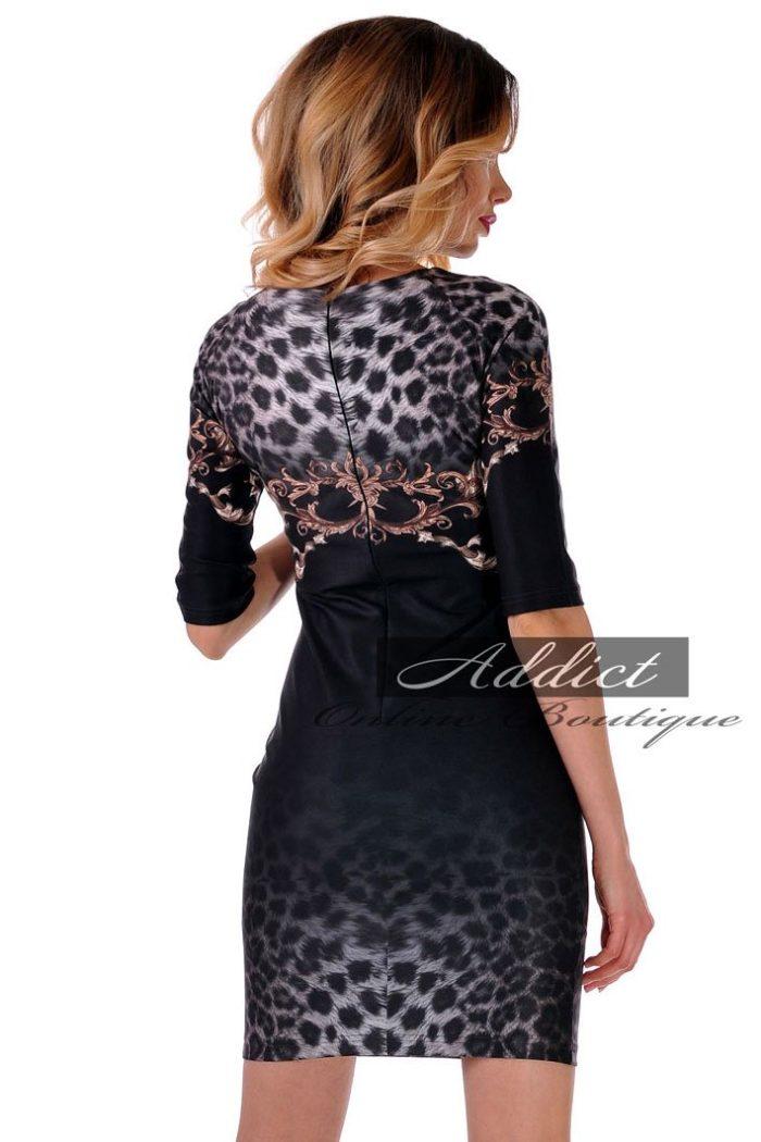 рокля бг.орнаменти черна адикт