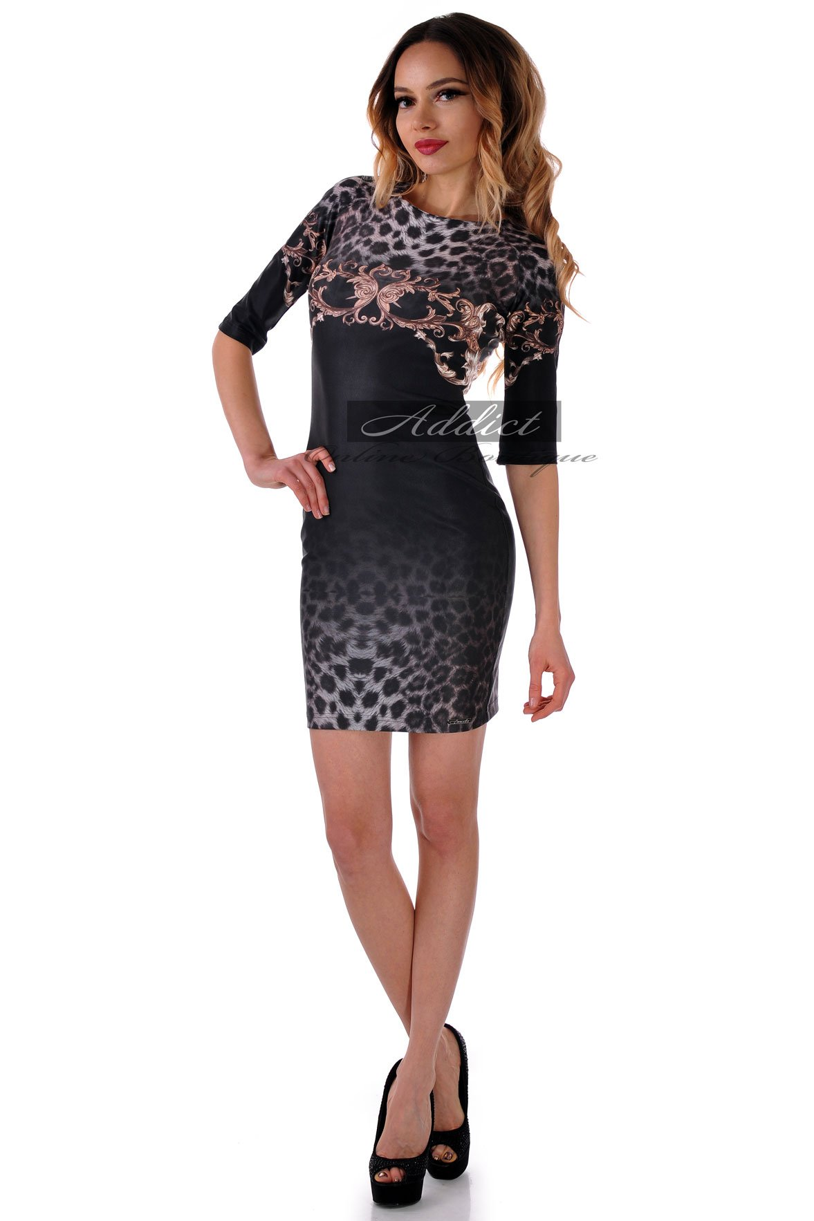 рокля адикт черна
