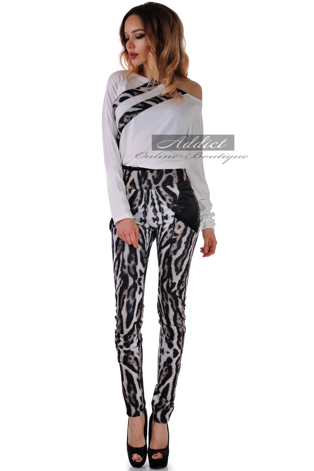 панталон висока талия и блуза комплект