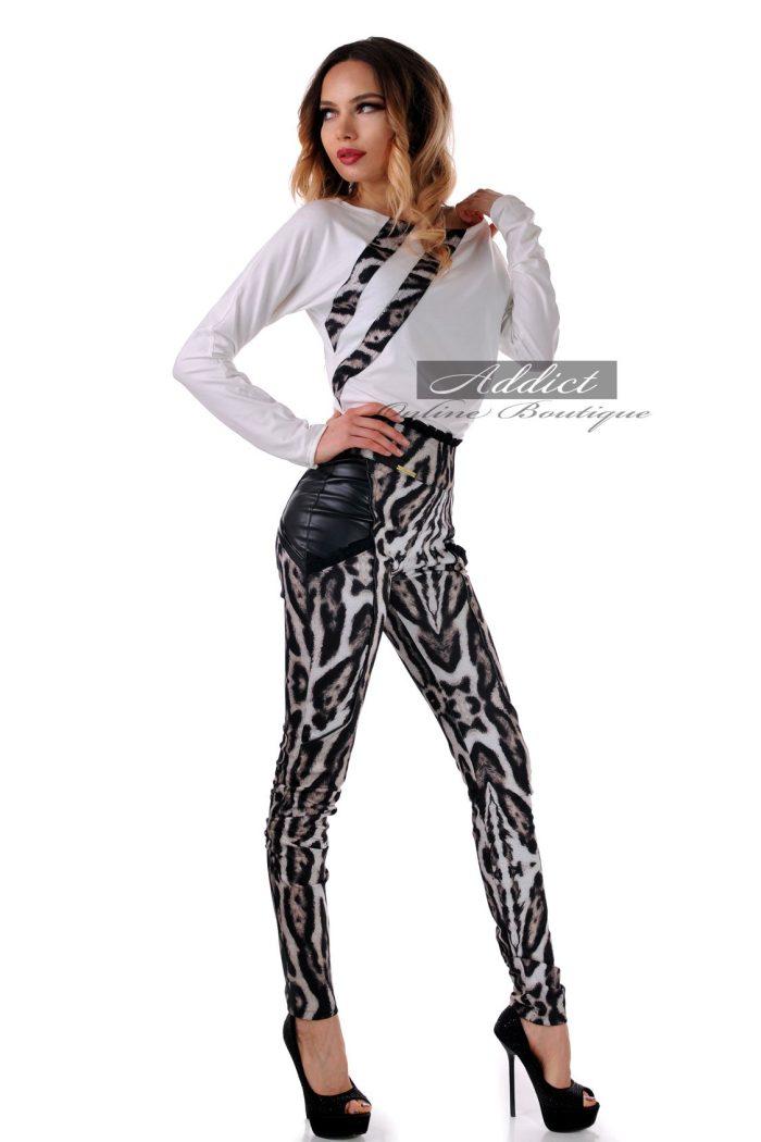 комплект от панталон и блуза в леопардово