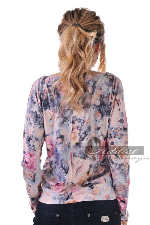 блуза дамска на рози с дълъг ръкав