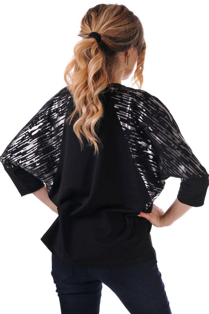 черна дамска блуза с ръкави