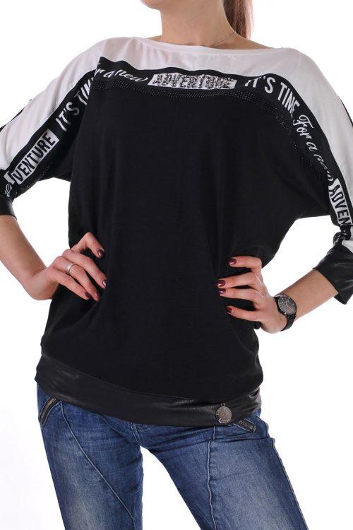 черно бяла блуза