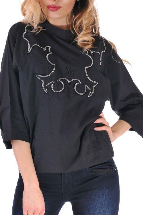 дамска риза черна