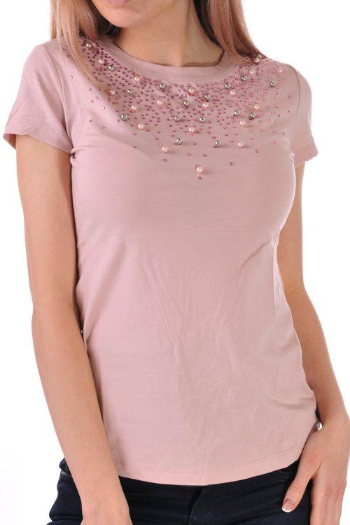 дамска блуза розова пудра