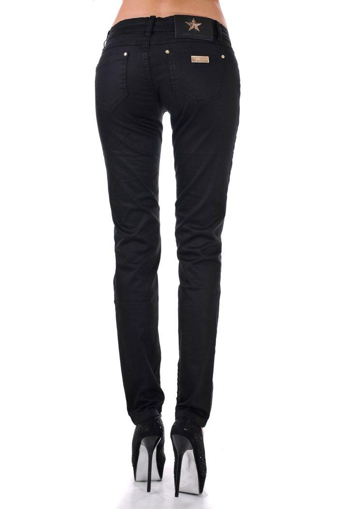 дамски летен черен панталон дълъг
