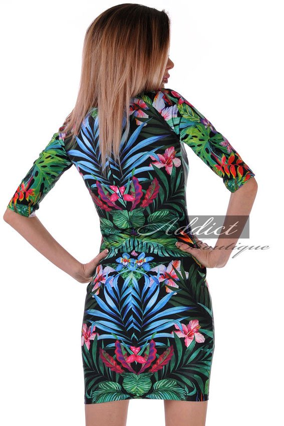 рокля с 3/4 ръкави