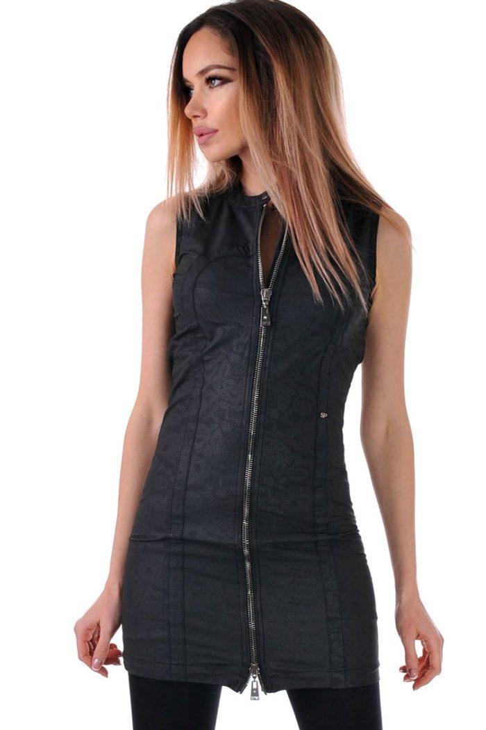 рокля туника черна дамска
