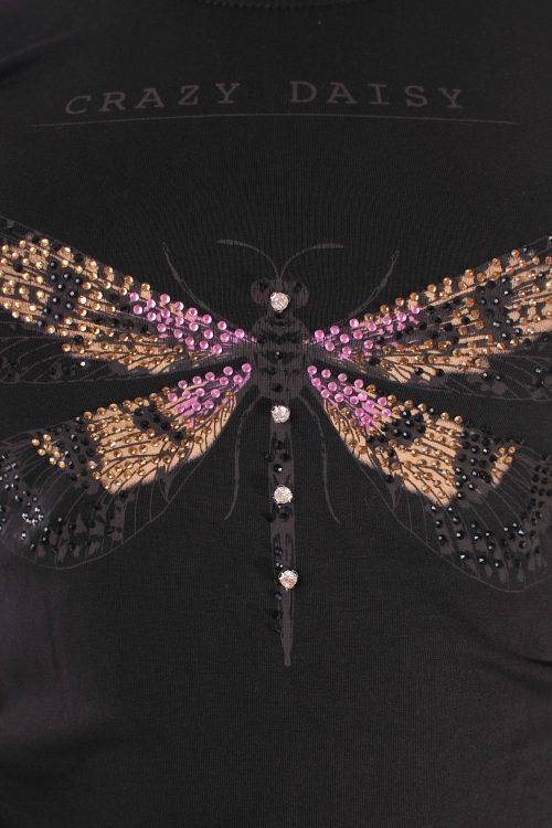дамска тениска черна