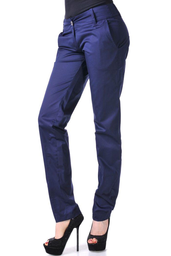 дамски панталон син