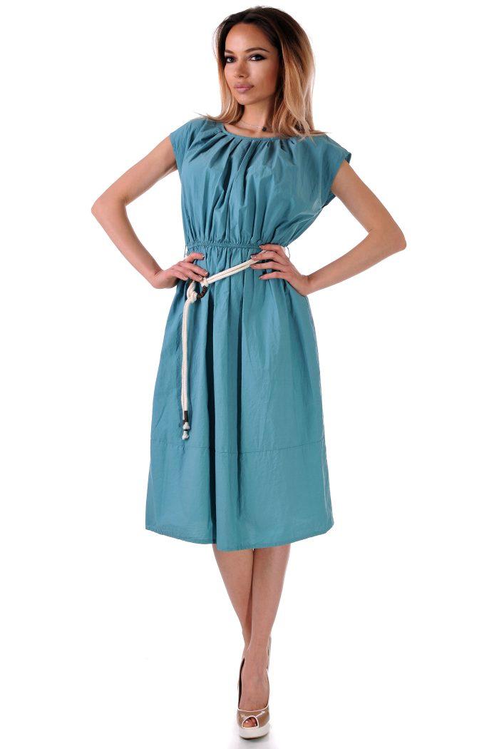 рокля зелена