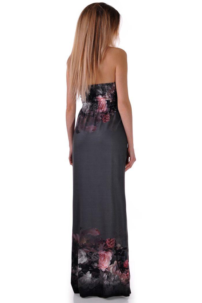 рокля на тъмни цветя
