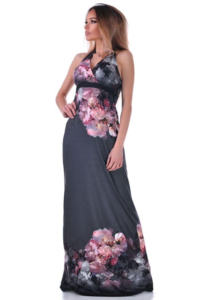 рокля дълга с бордюр