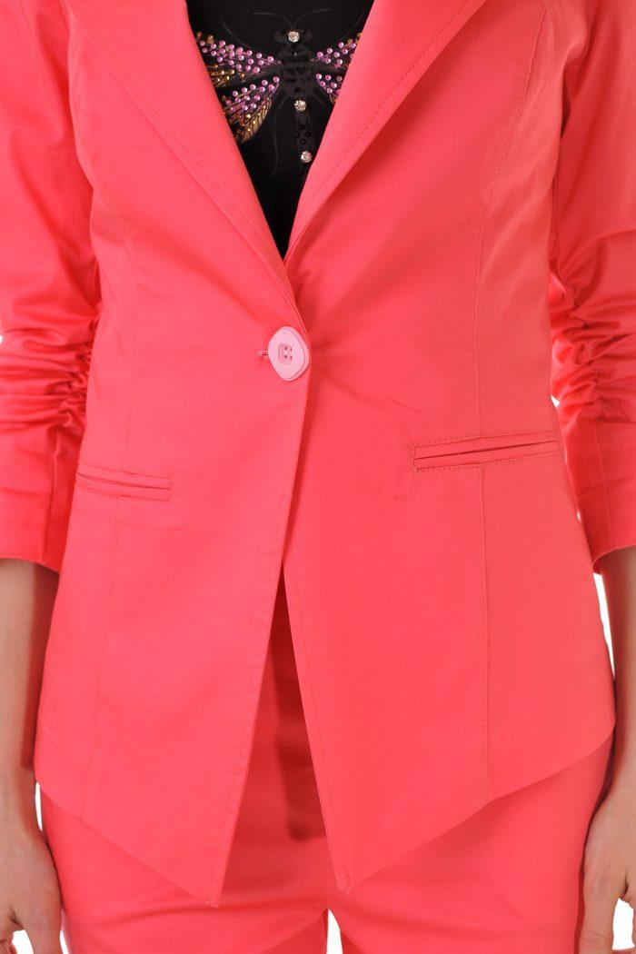 дамски розов сет топ костюм