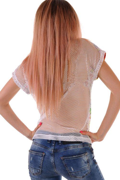 блуза с мрежа