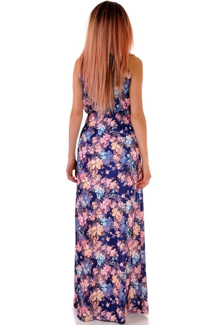 дълга българска цветна рокля