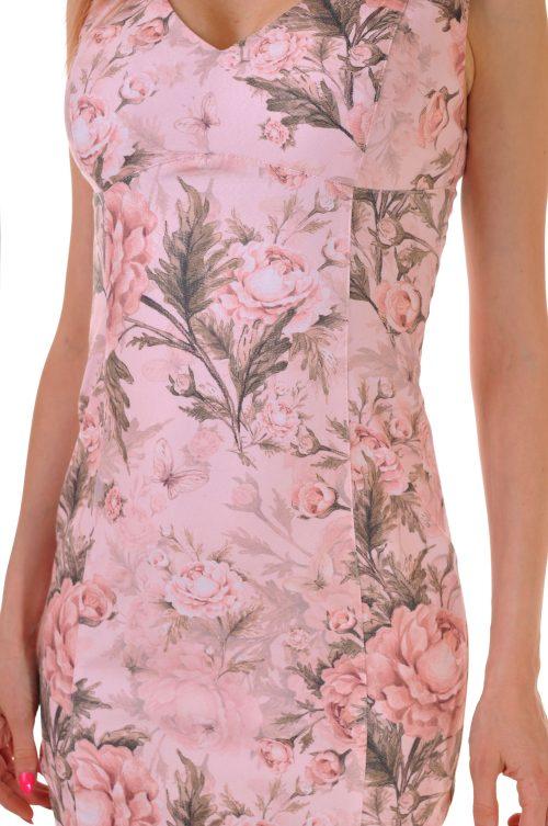 къса рокля флорална