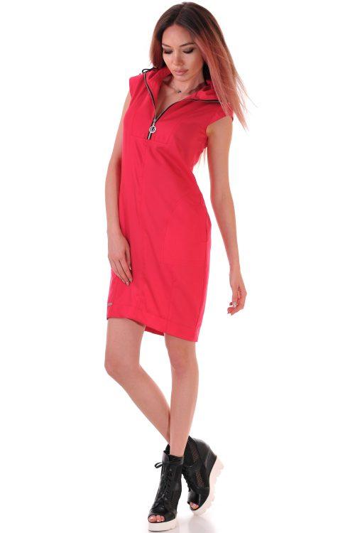 рокля червена лятна