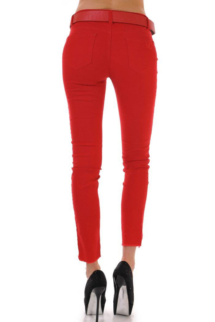 дамски червени дънки