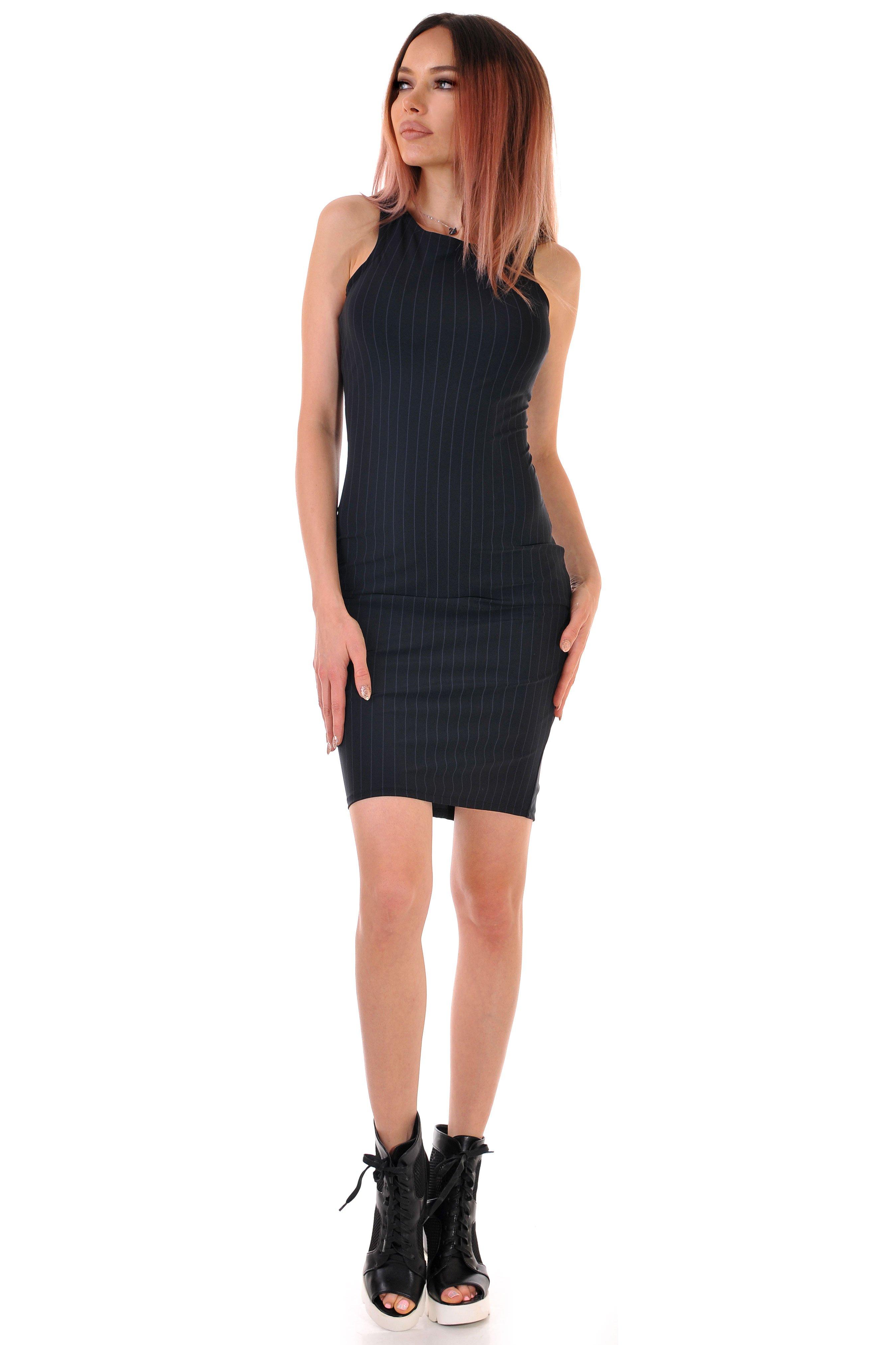 българска рокля черна